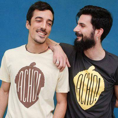 Camiseta Crema y Gris Oscuro Acho Chicos Extremadura Modelos