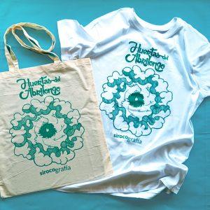 Bolsa de tela y Camiseta Blanca Huertas del Abrilongo