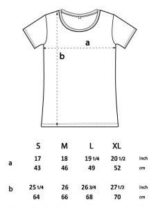 Guía tallas camiseta acha mujer