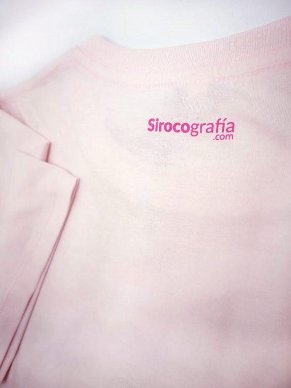 estampado trasero Chumbera Siroco camiseta Rosa claro